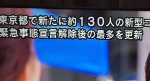 【新型コロナ】東京、新たに約130人の感染確認 緊急事態宣言後の最多更新