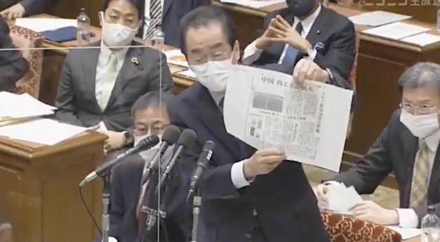 立憲・菅直人氏、毎日新聞の記事紹介し、中国を評価「中国は現実に走っている」